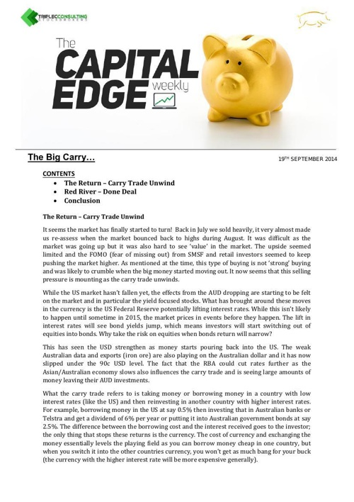 Capital Edge Weekly Week 1 Sept 19 2014