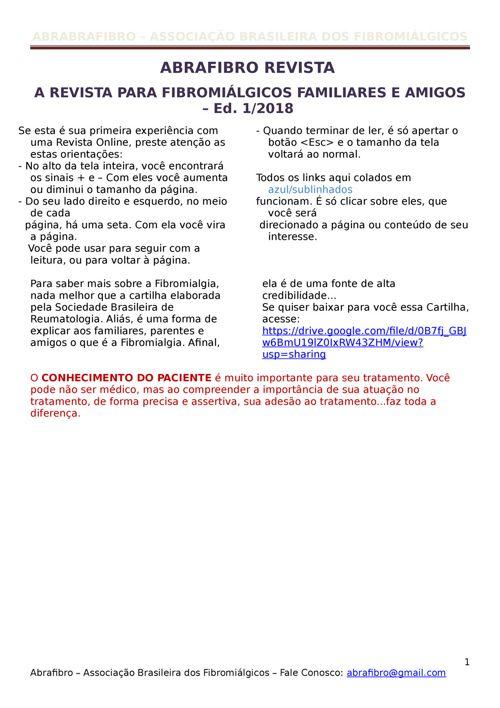 ABRAFIBRO REVISTA - ED.01-18