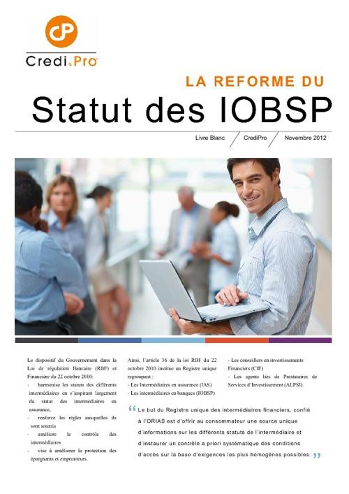 Livre Blanc CrediPro - Statut des IOB : Ce qui change en 2013.
