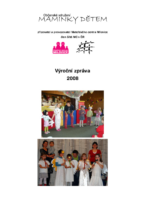 Výroční zpráva za rok 2008