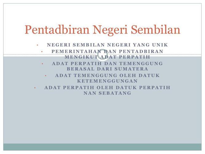 Pentadbiran Negeri Sembilan - PDF