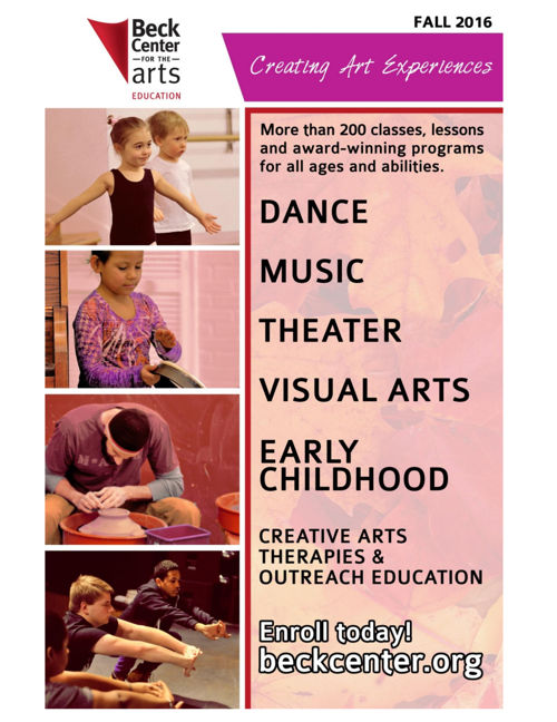 Beck Center Fall Class Catalog