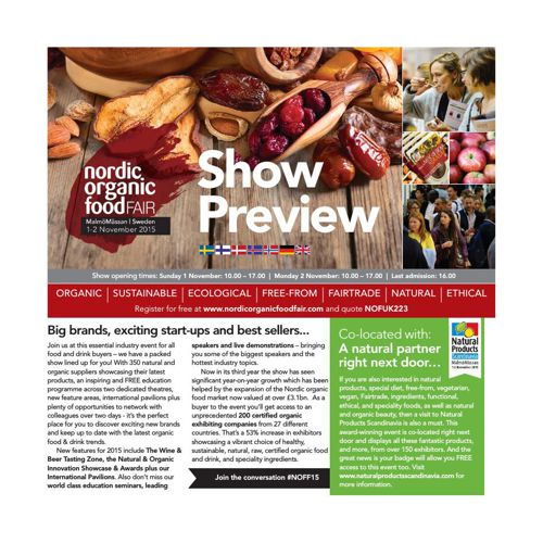 Nordic Organic Food Fair 2015 Show Preview