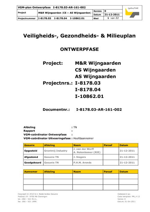 VGM-plan Wijngaarden