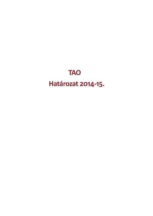 Határozat 2014-15.