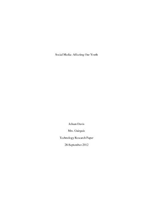 Davis-Technology Research Paper