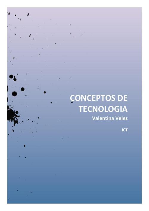 CONCEPTOS DE TECNOLOGIA