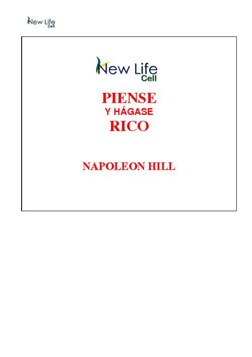 Capítulo 1 Napoleón Hill