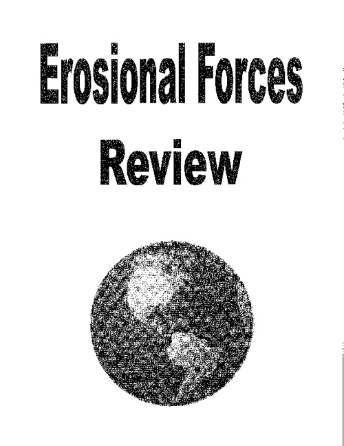 Erosional Forces - Review