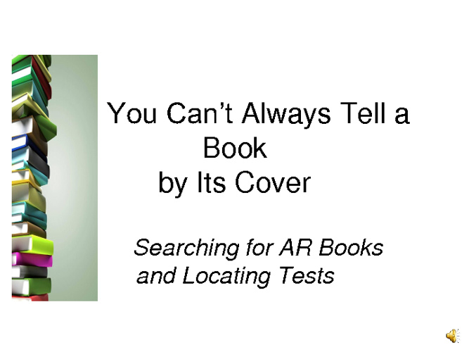 You Can't Always Tell a Book By Its Cover: AR & Bookfind
