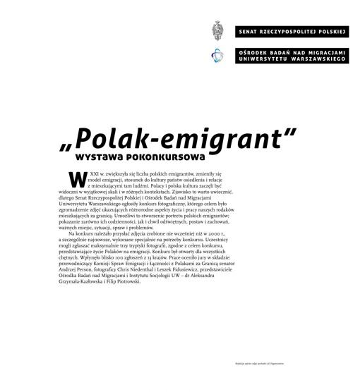 """""""Polak - emigrant"""": wystawa pokonkursowa"""