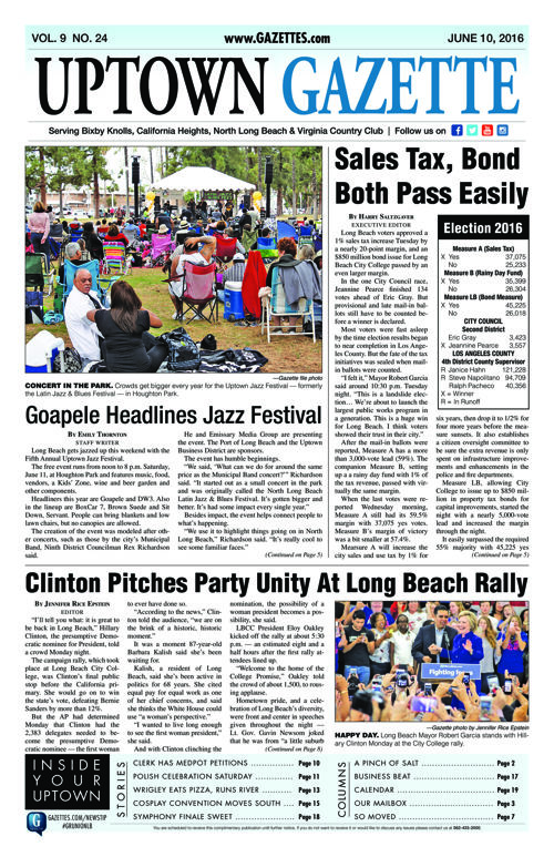 Uptown Gazette  |  June 10, 2016