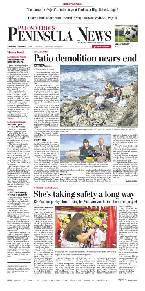 Peninsula News | December 1, 2016