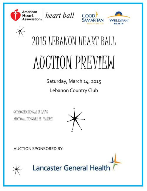 2015 Lebanon Heart Ball Auction Preview
