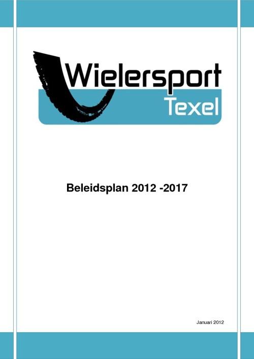 Beleidsnota Wielersport Texel 2012 - 2017