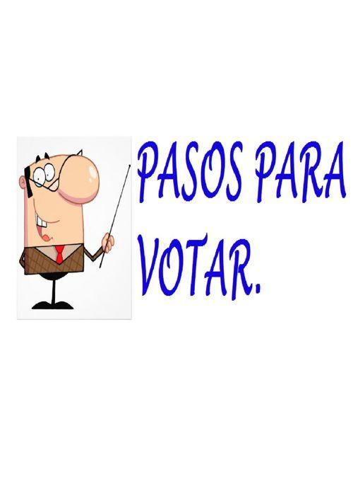 PASOS PARA VOTA ESTE 25 DE OCTUBRE