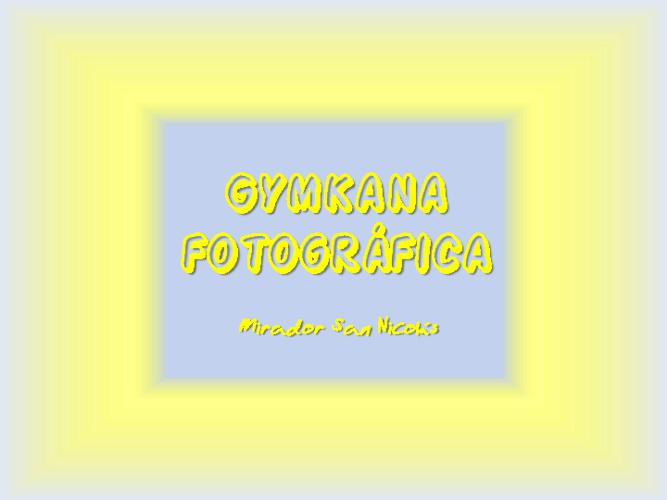 Gymkana fotográfica