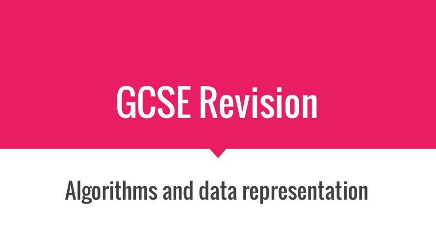 4. Algorithms and data representation