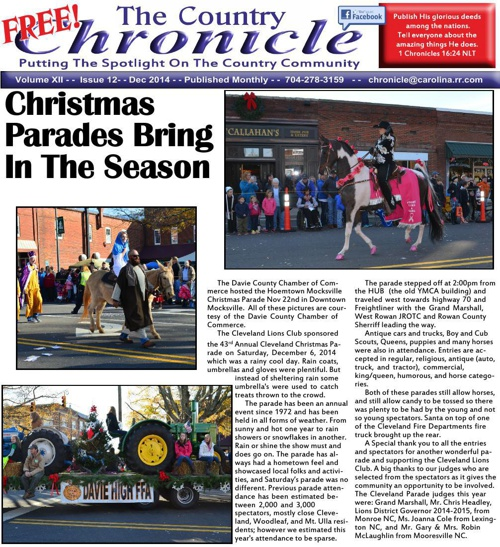 Dec 2014 Country Chronicle