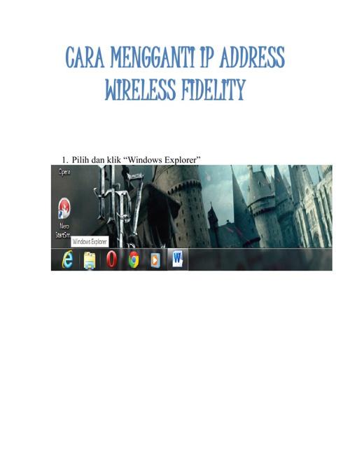 Cara Mengganti IP Adress Wi-Fi