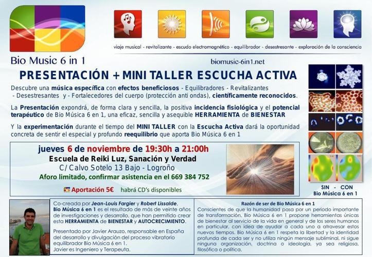 6/NOV/2014 Presentación + MINI TALLER ESCUCHA ACTIVA con BM