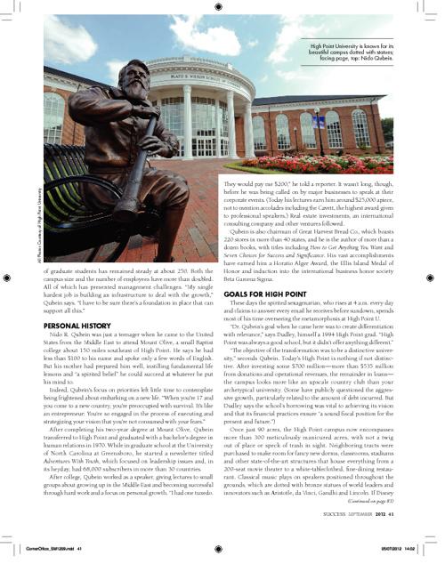 Success Magazine features HPU