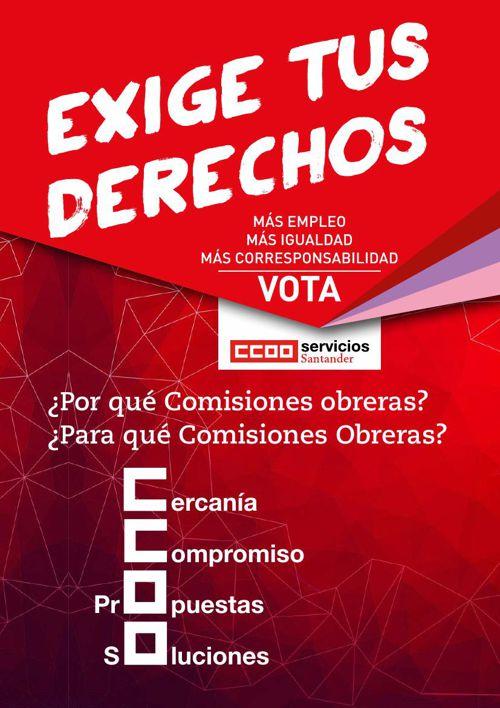 CCOO Banco Santander - Balance y Programa Elecciones Sindicales