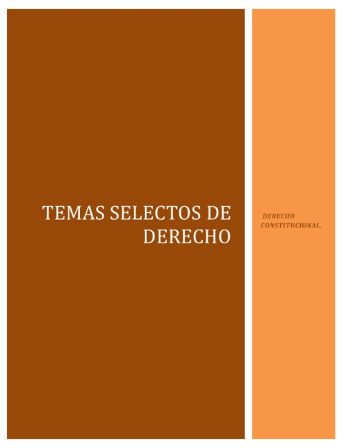 TEMAS SELECTOS DE DERECHO
