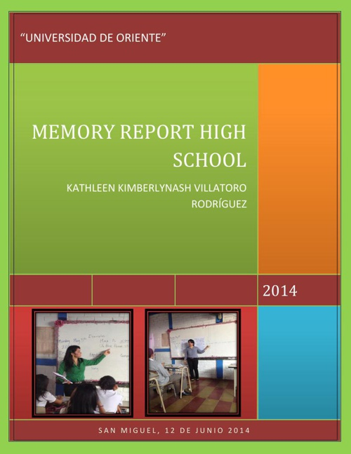 MEMORY REPORT HIGH SCHOOL