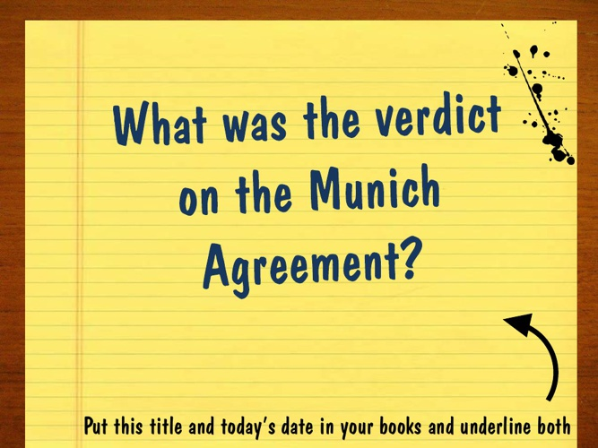 6. Verdict on Munich