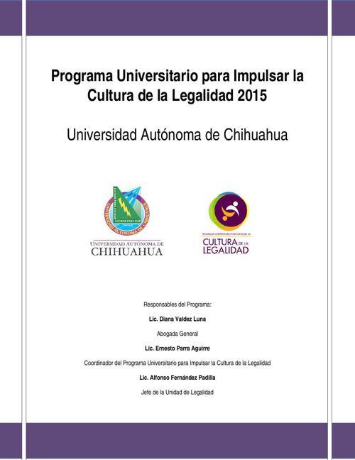 Programa Universitario para Impulsar la Cultura de la Legalidad
