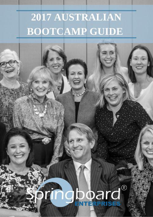 2017 Springboard Australia Bootcamp Guide