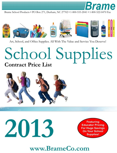 2013 School Supplies Contract Price Catalog