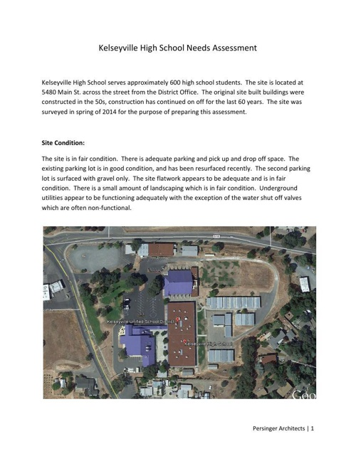 Final Draft Assessment Kelseyville High School Aug  2014