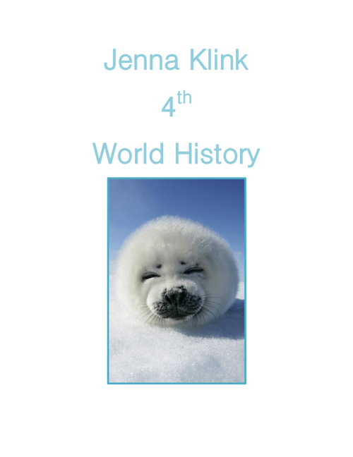 Copy of Jenna Klink 4th World History