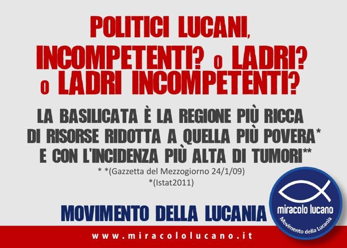 Movimento della Lucania Programma breve illustrato