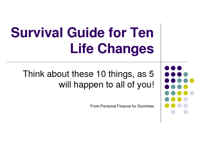 Financial Survival Guide