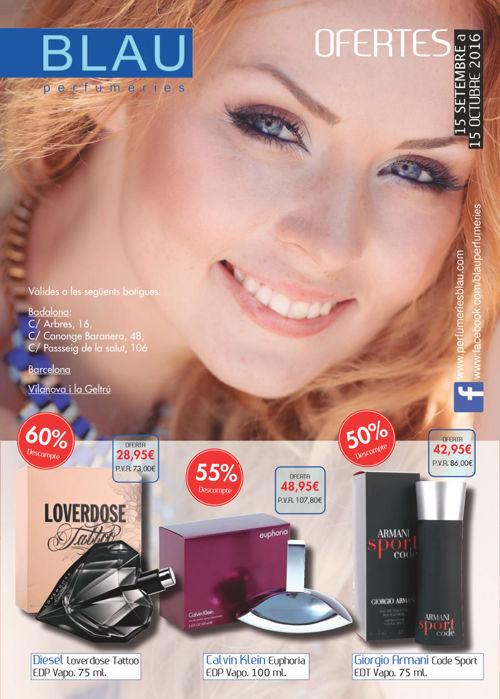 Folleto septiembre perfumerías Blau