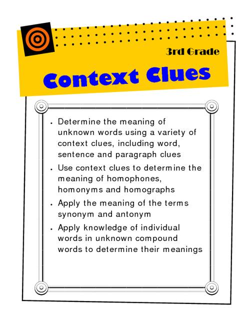 Context Clues 3rd Grade