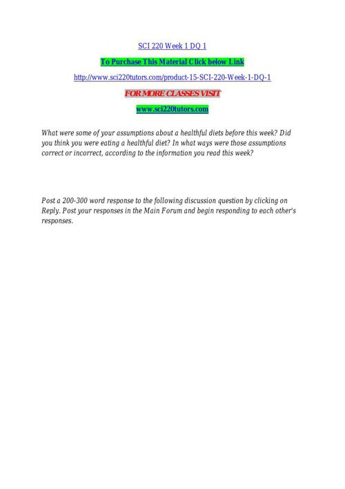 SCI 220 TUTORS Real Education / sci220tutors.com