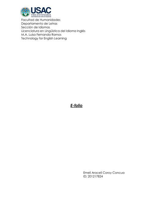 E-folio