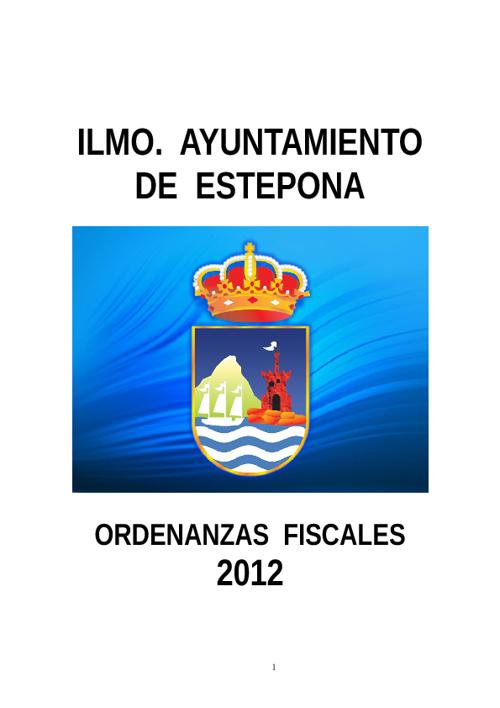 Ordenanzas Fiscales 2012