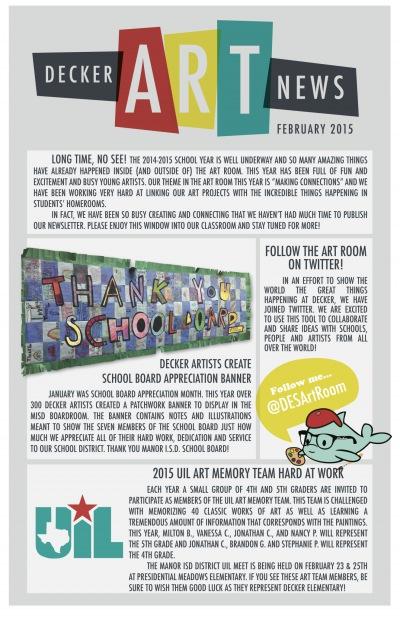 Decker Art News - February 2015