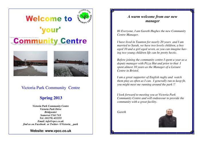 VPCC Spring Brochure 2013