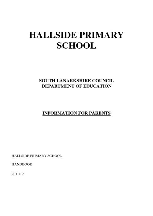 School Handbook 2011-12