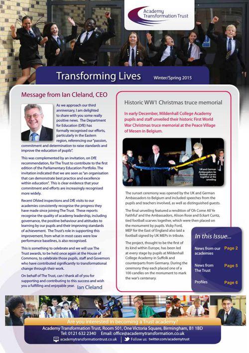 Trust Newsletter Winter/Spring 2015
