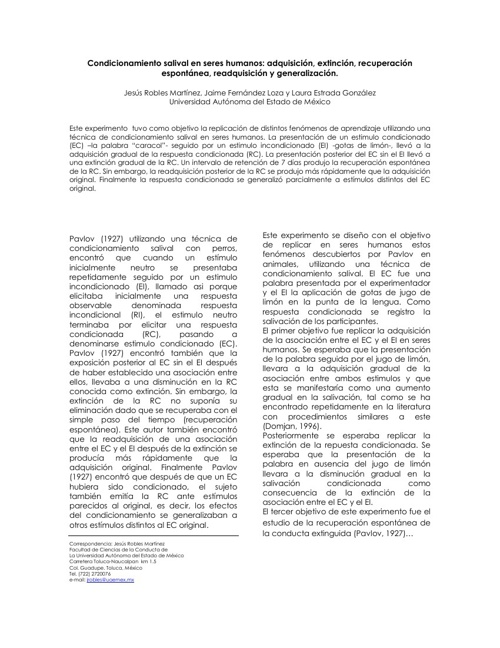 EJEMPLO ARTICULO DE CONDICIONAMIENTO