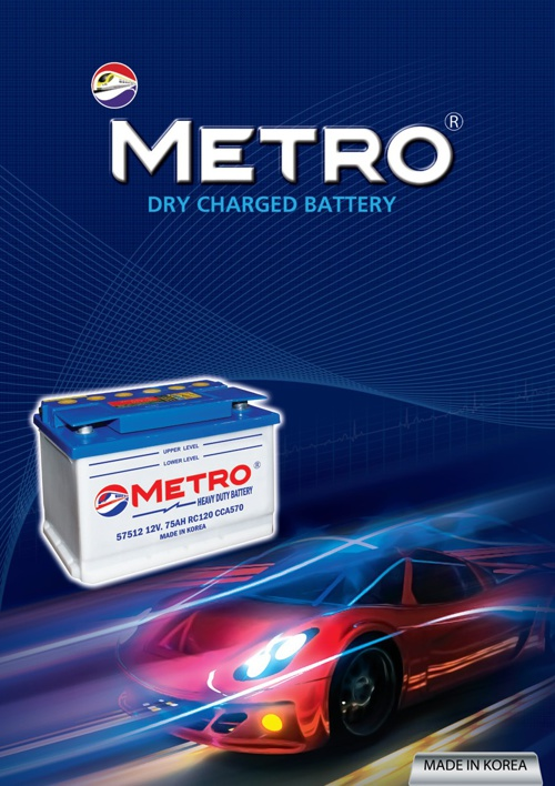 Metro Dry Charged Battery - Korea
