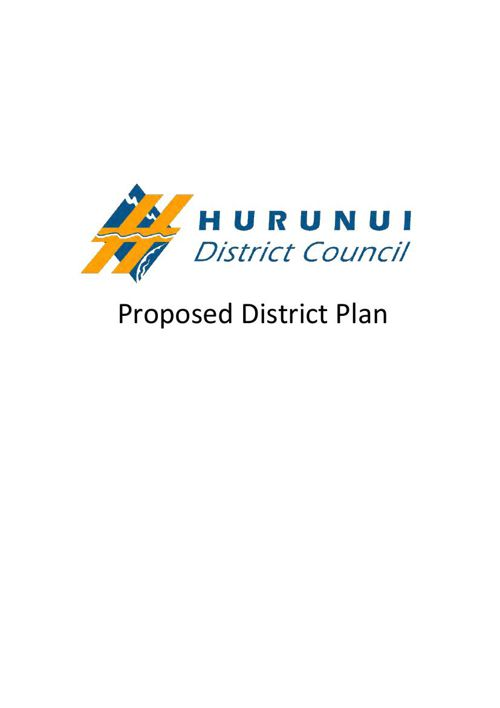 Hurunui District Council's Proposed District Plan