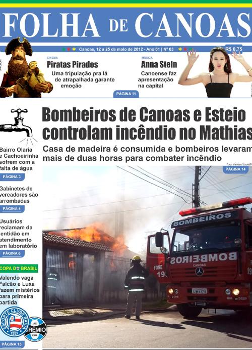 FOLHA DE CANOAS EDIÇÃO 3